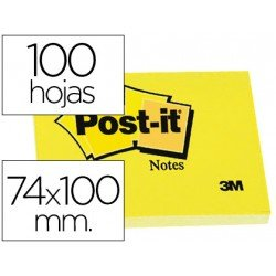 Post-it ® Bloc de notas adhesivas quita y pon 74x100 mm