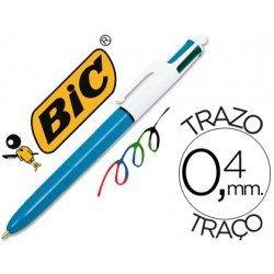 Bolígrafo Bic cuatro colores 0,4 mm