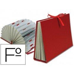 Carpeta Liderpapel fuelle a-z carton forrado folio burdeos