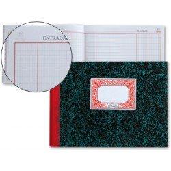 Miquelrius Libro de Caja, Entradas y salidas, cartone tamaño cuarto y 100 hojas