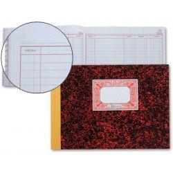 Miquelrius Libro Cuentas Corrientes Debe y Haber cartone tamaño cuarto 100 hojas
