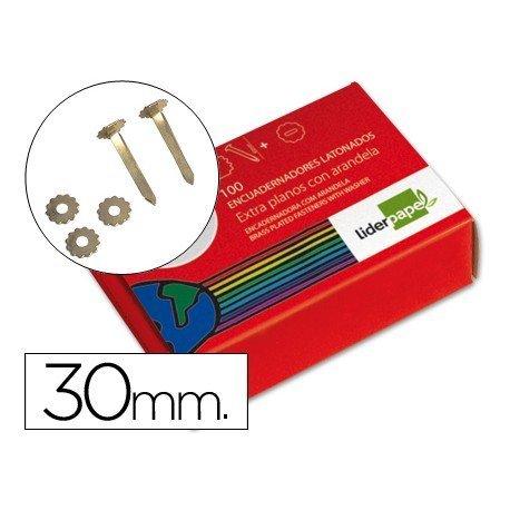 Encuadernadores Liderpapel con arandela y 30 milimetros