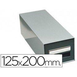 Fichero Liderpapel metálico sin cerradura fichas 125 x 200 mm