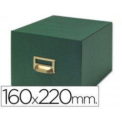Fichero Liderpapel tela verde fichas N5