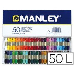 Lapices cera blanda Manley caja 50 unidades