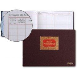 Miquelrius Libro entrada de correspondencia y tamaño folio formato apaisado