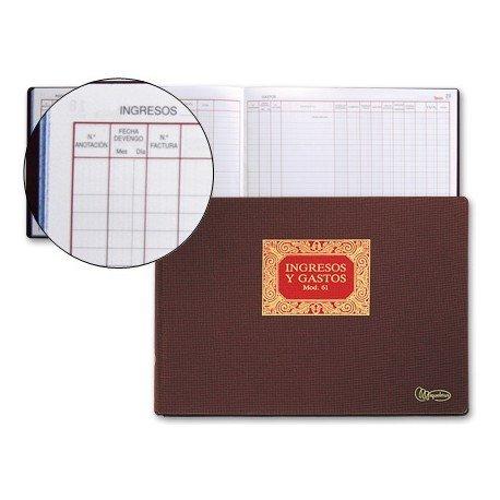Miquelrius Libro ingresos y gastos con 100 hojas y tamaño folio