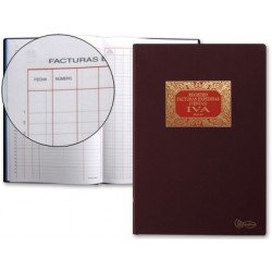 Miquelrius Libro de facturas emitidas con 100 hojas y tamaño folio