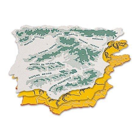 Plantilla mapa España 22 x 18 cm