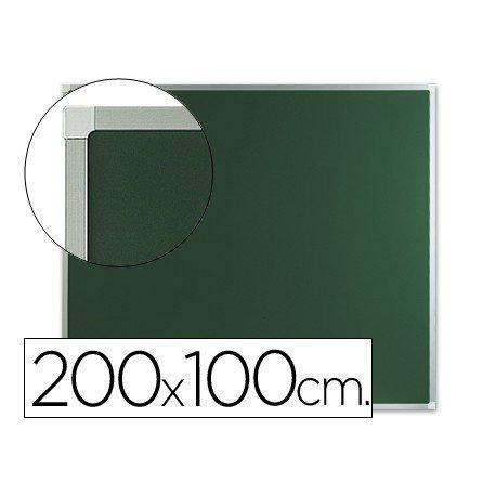 Pizarra Q-Connect verde marco aluminio 200x100 cm