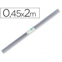 Rollo plastico forralibros Liderpapel longitud 0,45 x 2 mt.