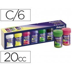 Tempera Pelikan surtido 6 colores 25 ml