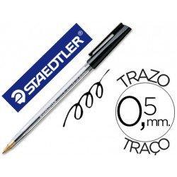 Bolígrafo Staedtler stick negro 0,5 mm