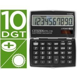 Calculadora bolsillo Citizen CTC-110 negra
