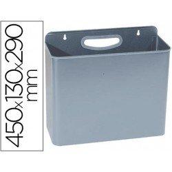 Papelera metalica de pared gris 12 L