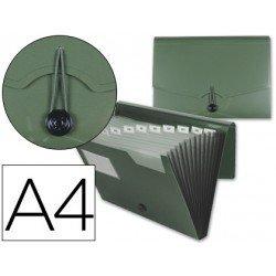 Carpeta Beautone clasificador con fuelle Din.A4 verde oscuro