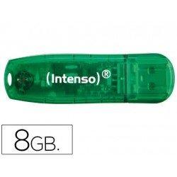 Memoria Intenso flash usb 8GB rainbow line usb 2.0 verde