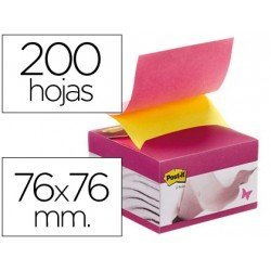 Bloc de notas adhesivas quita y pon Post-it ® con dispensador