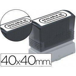 Etiquetas para sellos Brother 40x40 mm