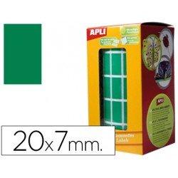 Gomets Apli Rectangulares Verdes 20x7mm