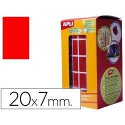 Gomets Apli Rectangulares Rojos 20x7mm