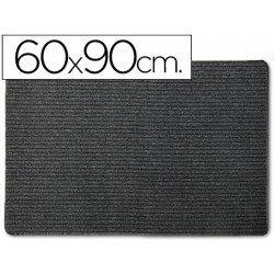 Alfombra 3m polipropileno color negro 60x90 cm