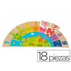 Puzzle educativo a partir de 3 años Numeros arco iris Falomir