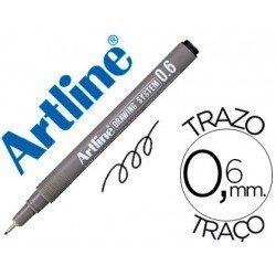 Rotulador Artline calibrado micrometrico negro 0,6 mm