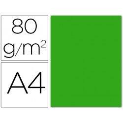 Papel color Liderpapel verde A4 80g/m2