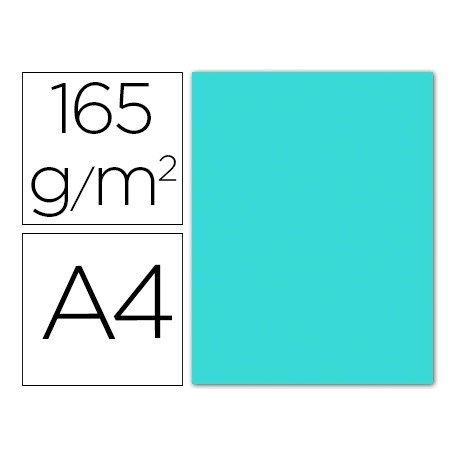 Papel color Liderpapel azul celeste A4 165g/m2 9 hojas