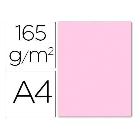 Papel color Liderpapel rosa pastel A4 165g/m2 9 hojas