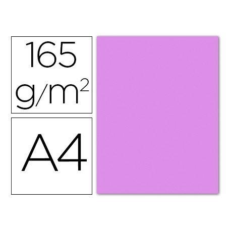 Papel color Liderpapel lila A4 165g/m2 9 hojas