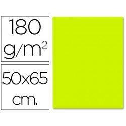Cartulina Liderpapel verde pistacho 50x65 cm 180 g/m2
