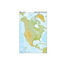 Mapa mudo America del Norte fisico