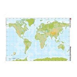 Mapa mudo Planisferio fisico
