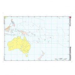 Mapa mudo Oceania politico