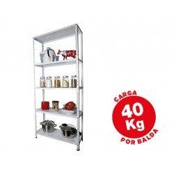 Estantería AR Storage metálica 5 estantes 40 kg