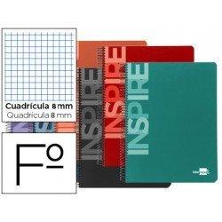 Bloc Liderpapel serie Inspire Folio cuadricula 8mm