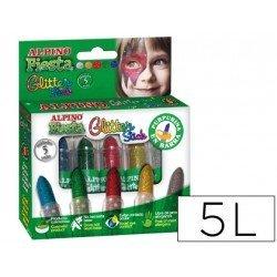 Barra maquillaje Alpino Glitter 5 colores surtidos