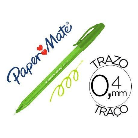 Boligrafo Paper Mate Inkjoy 100 1 mm verde lima