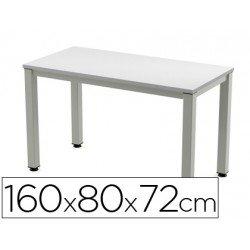 Mesa de oficina Rocada executive 2002ad02 aluminio /gris 160x80 cm