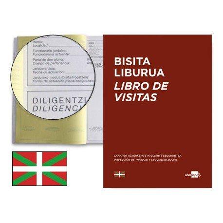 Libro Registro de visitas Liderpapel euskera y tamaño A4