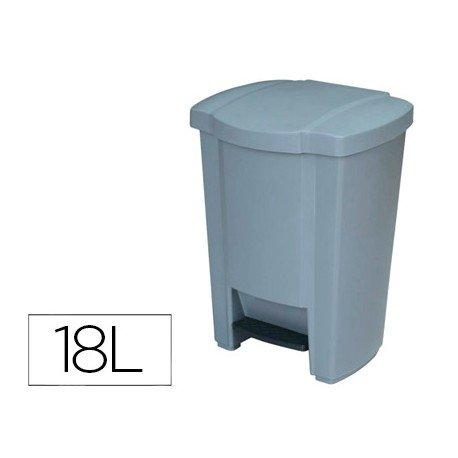 Papelera contenedor Q-connect plastico con pedal de 18 L