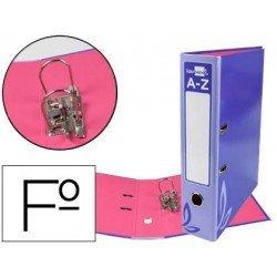 Archivador de palanca Liderpapel folio carton forrado rado violeta lomo 75mm