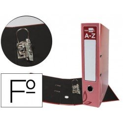 Archivador de palanca Liderpapel folio forrado rado lomo 52mm compresor metalico rojo