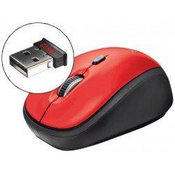 Mini raton Trust optico inalambrico rojo