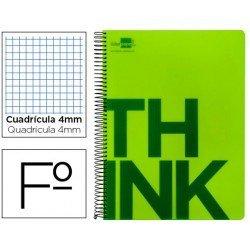 Bloc Folio Liderpapel serie Think cuadricula 4 mm verde