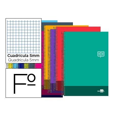 Bloc Folio Liderpapel serie Discover cuadricula 5 mm. Colores Surtidos. No se puede elegir.