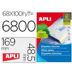 Etiquetas adhesivas Apli 01282 tamaño 48,5x169 mm caja 100h