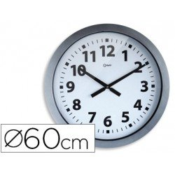 Reloj Cep pared plastico 60 cm gris y esfera blanca